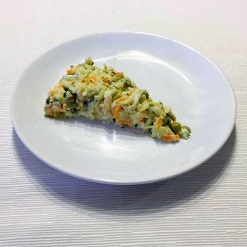 Pastel de pollo. Receta para la comida de los niños