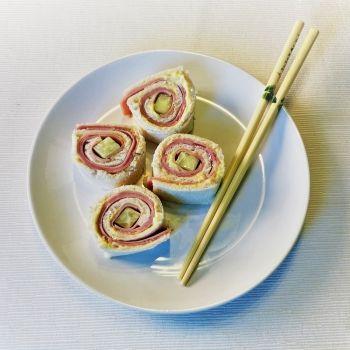 Sushi sándwich. Receta fácil para hacer con los niños