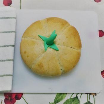 Pan con forma de calabaza. Recetas de Halloween para niños