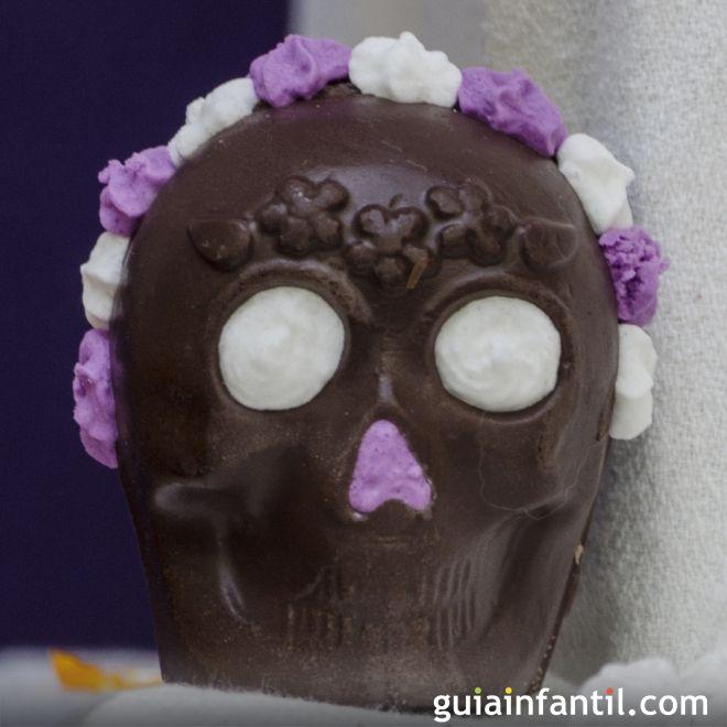 Calaveritas de chocolate mexicanas. Receta para niños