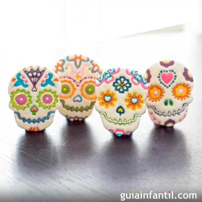 Galletas de calavera mexicana. Postre para niños