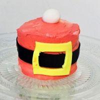 Mini tarta de Papá Noel. Receta de Navidad para niños