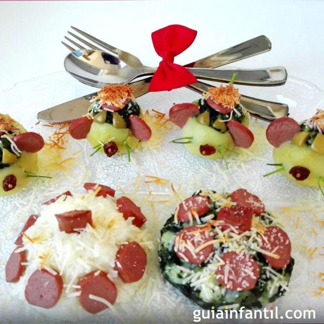 Patatas rellenas de espinacas. Recetas divertidas para niños
