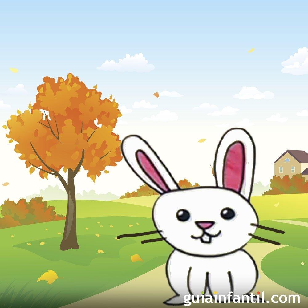 C mo dibujar un conejo dibujos infantiles de animales - Como decorar un dibujo ...