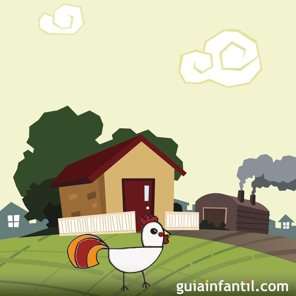C mo dibujar un gallo dibujos de la granja para ni os - Dibujos para dibujar en la pared ...
