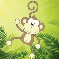 Cómo dibujar un mono. Dibujos infantiles de monos