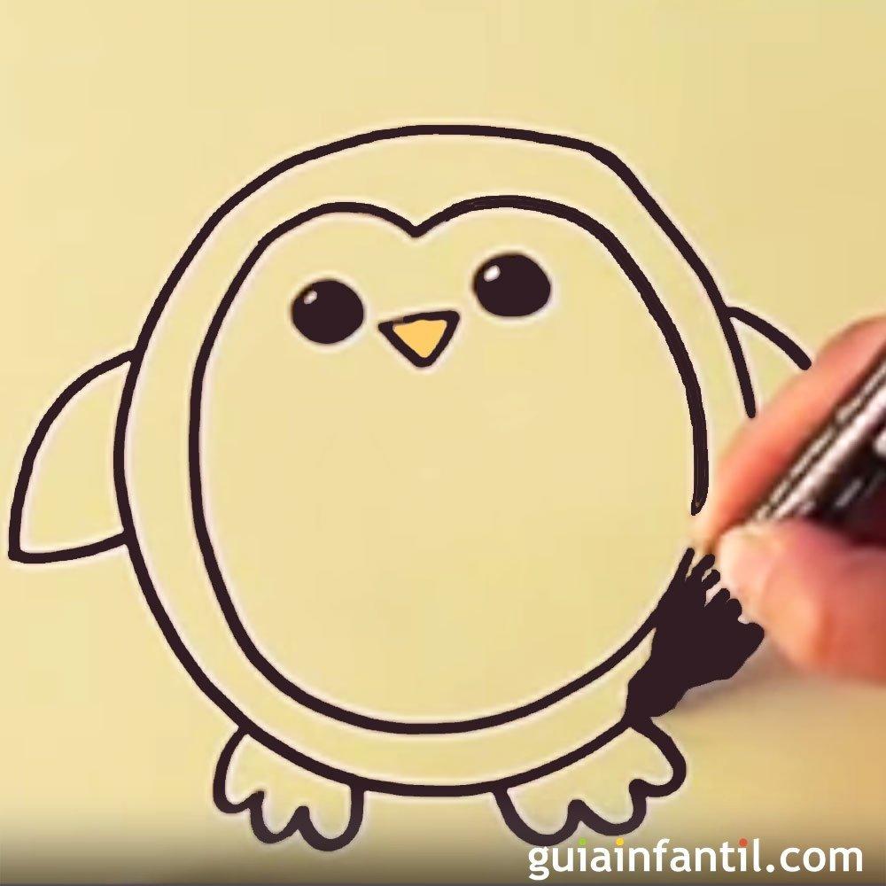 Cómo dibujar un pingüino. Dibujos para niños