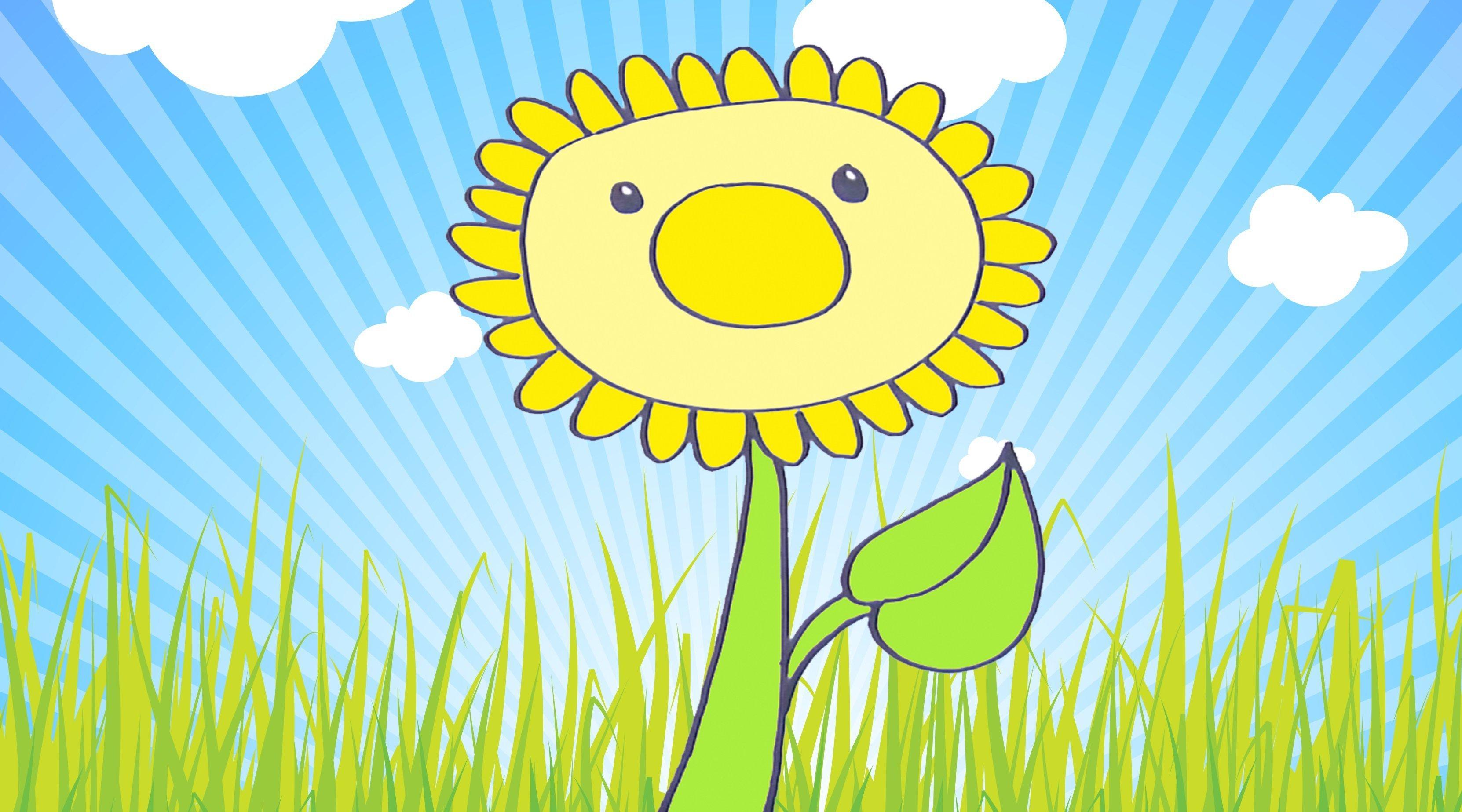 C mo dibujar un girasol dibujos de flores para ni os for Imagenes de estanques para ninos