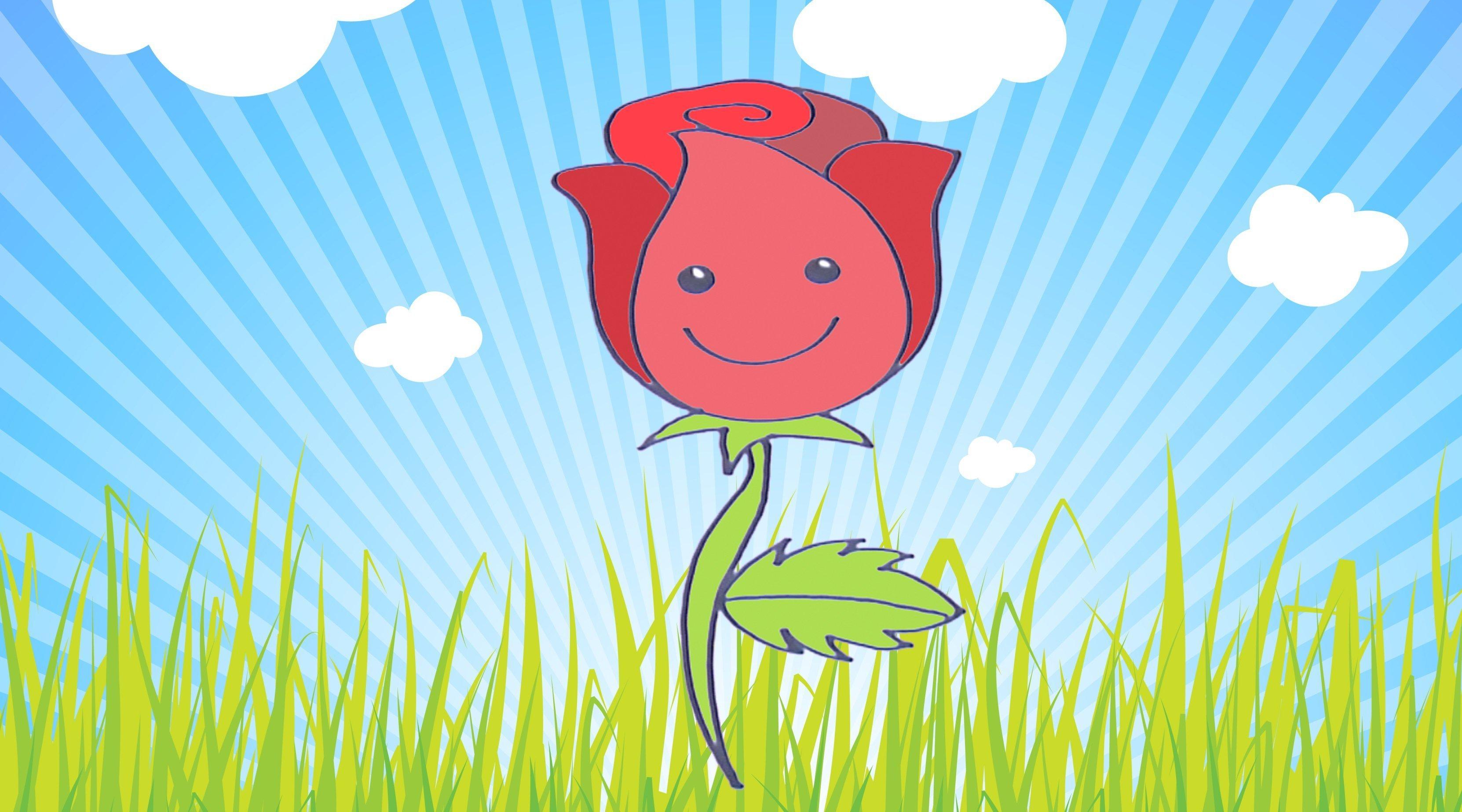 C mo dibujar una rosa dibujos infantiles de flores - Dibujos infantiles de bebes ...