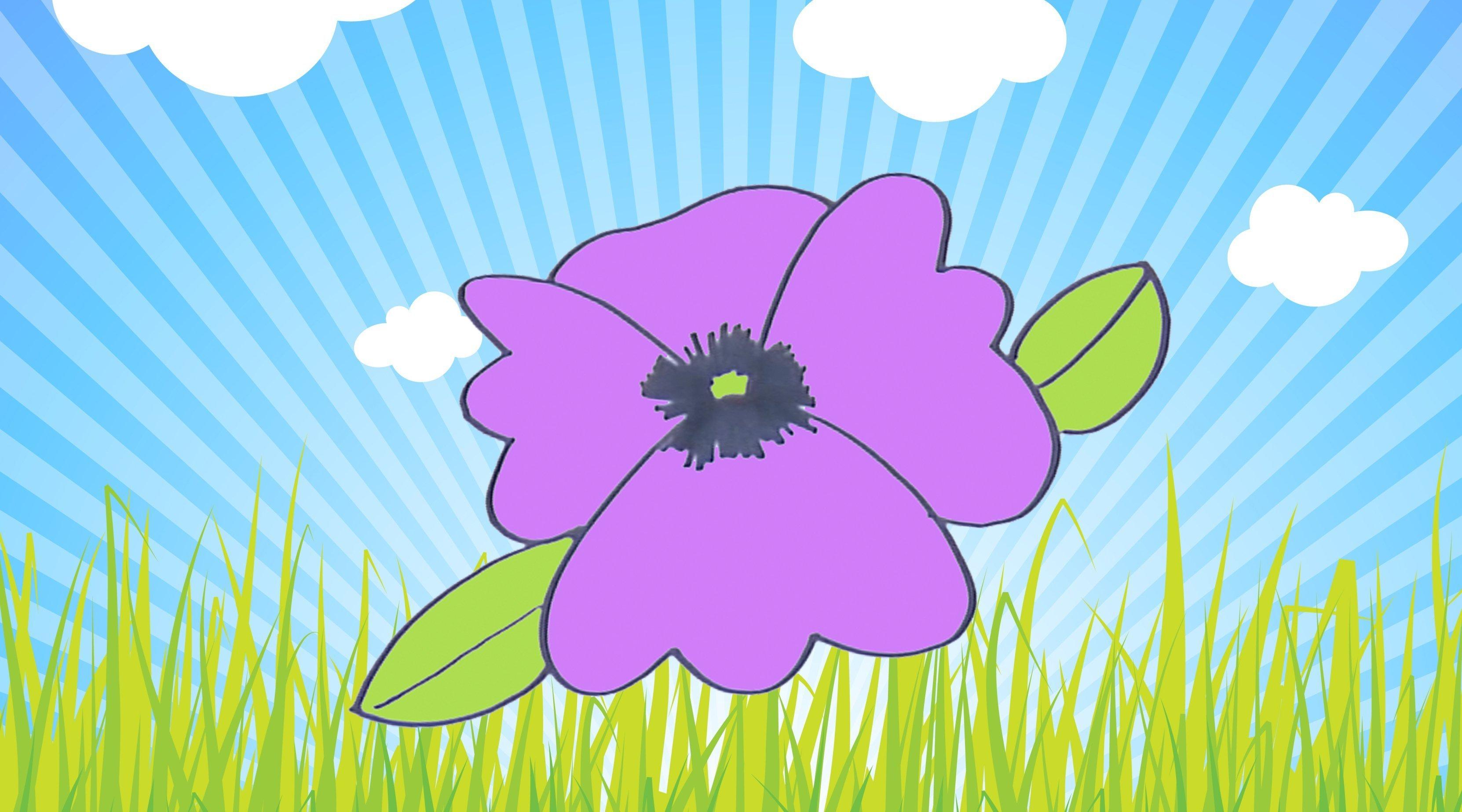 Cómo Dibujar Una Violeta Dibujos Infantiles De Flores