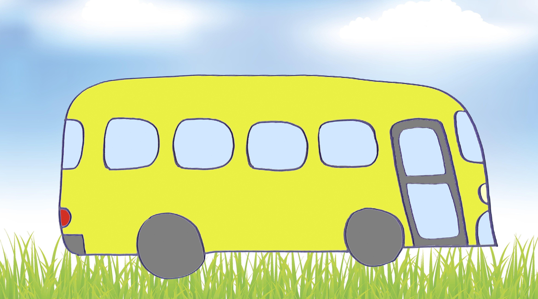 Cómo dibujar un autobús. Dibujos de transportes para niños