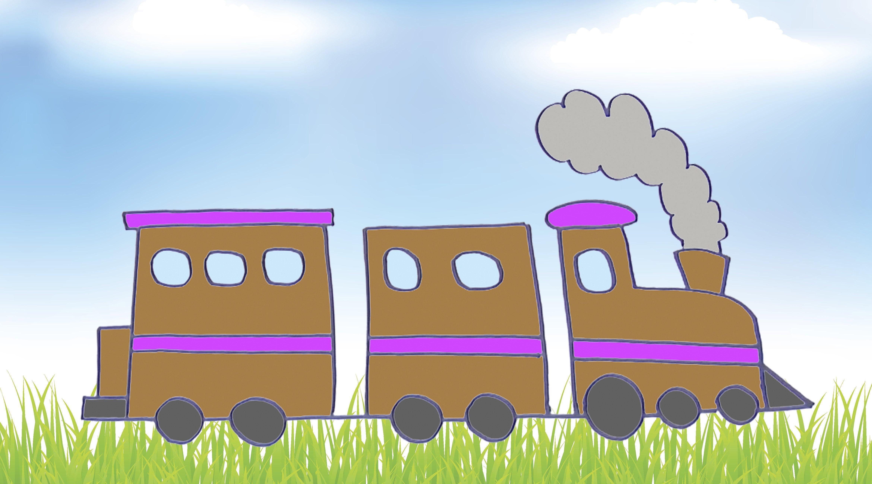 Cómo Dibujar Un Tren Dibujos De Medios De Transporte Para Niños