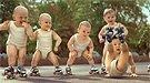 Bebés patinadores