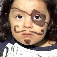 Maquillaje de fantasía de Pirata