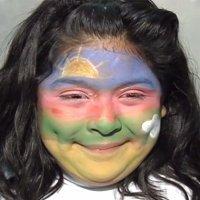 Maquillaje de fantasía de Arcoíris