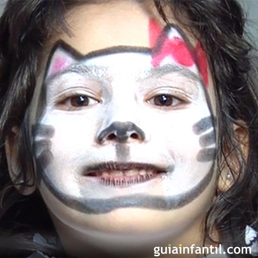 Maquillaje de fantasa de Gato