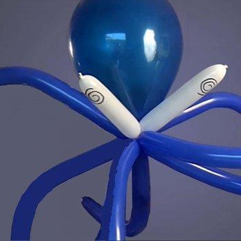 Pulpo con globos
