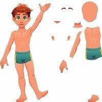 Las partes del cuerpo en la lengua de signos para niños