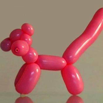 Pantera rosa con globos