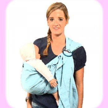 Cómo llevar el bebé en una bandolera