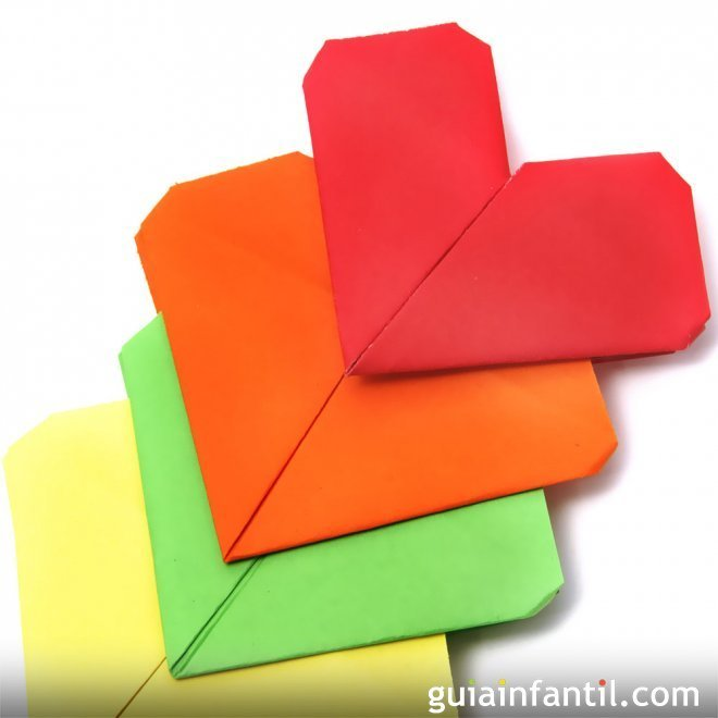 Corazón de papel. Aprende a hacer origami
