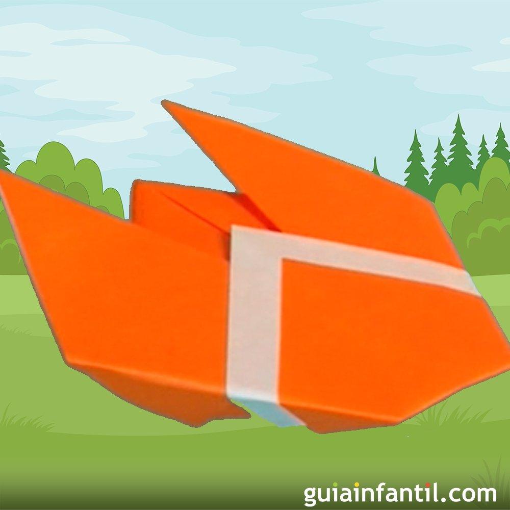 C mo hacer una cigarra de papel origami para ni os for Papel decomural para ninos