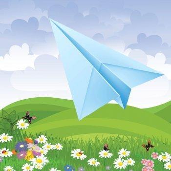 Papiroflexia. Cómo hacer un avión de papel