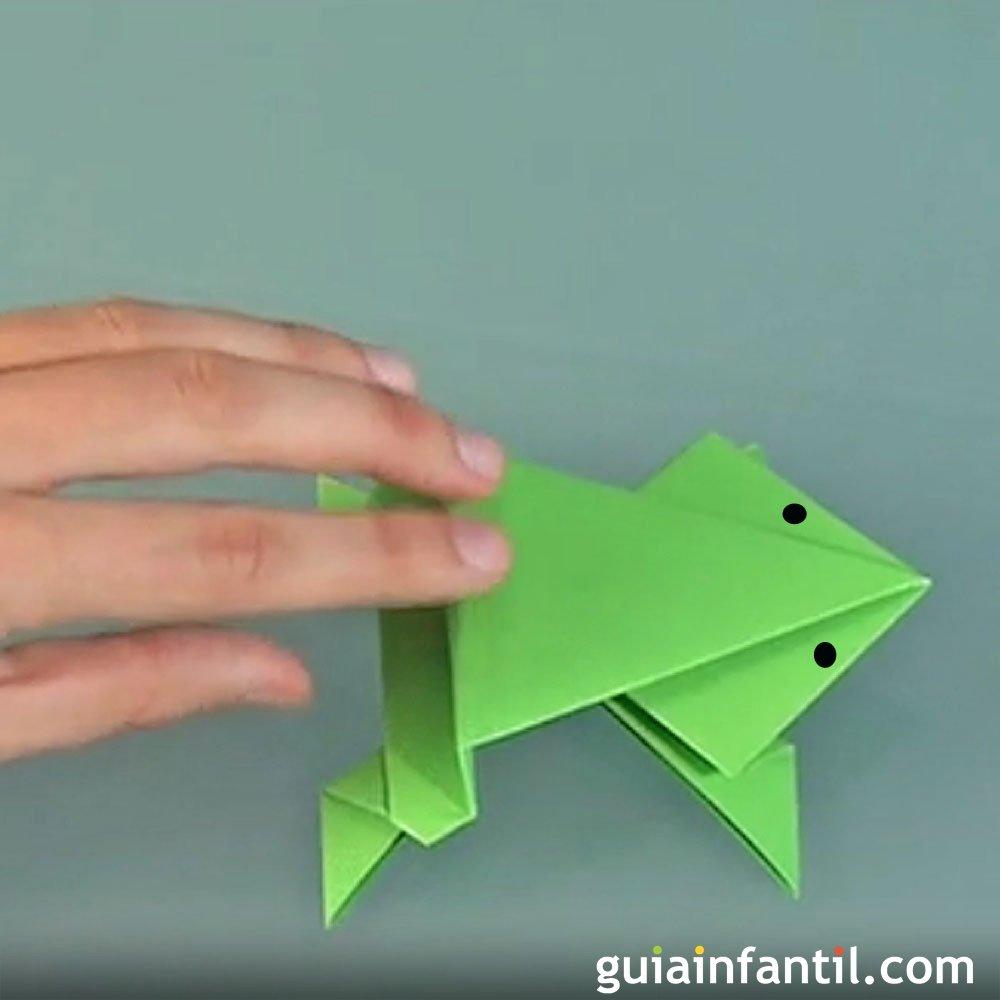 C mo hacer una rana que salta origami - Como hacer cosas de papel paso a paso faciles ...