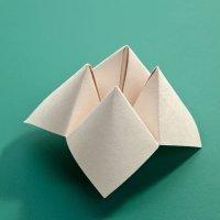 Comecocos de papel. Manualidades de papiroflexia