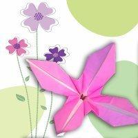 Una flor de papel, cómo hacer origami