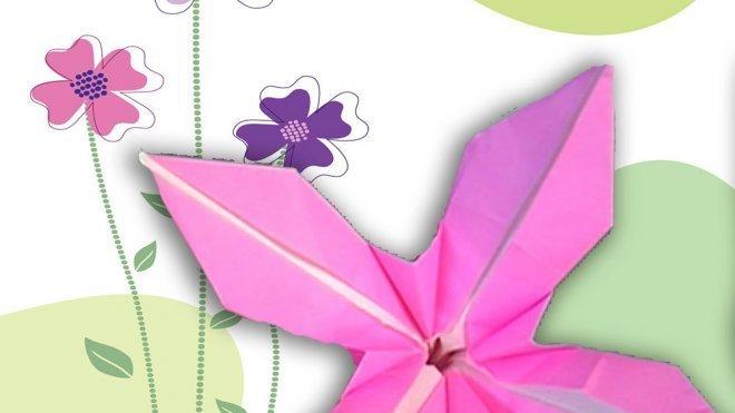 Una Flor De Papel Cómo Hacer Origami