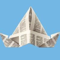 Un sombrero de papel, aprende origami