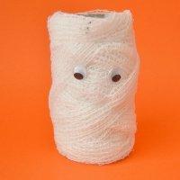 Manualidades de Halloween para niños. Momia higiénica