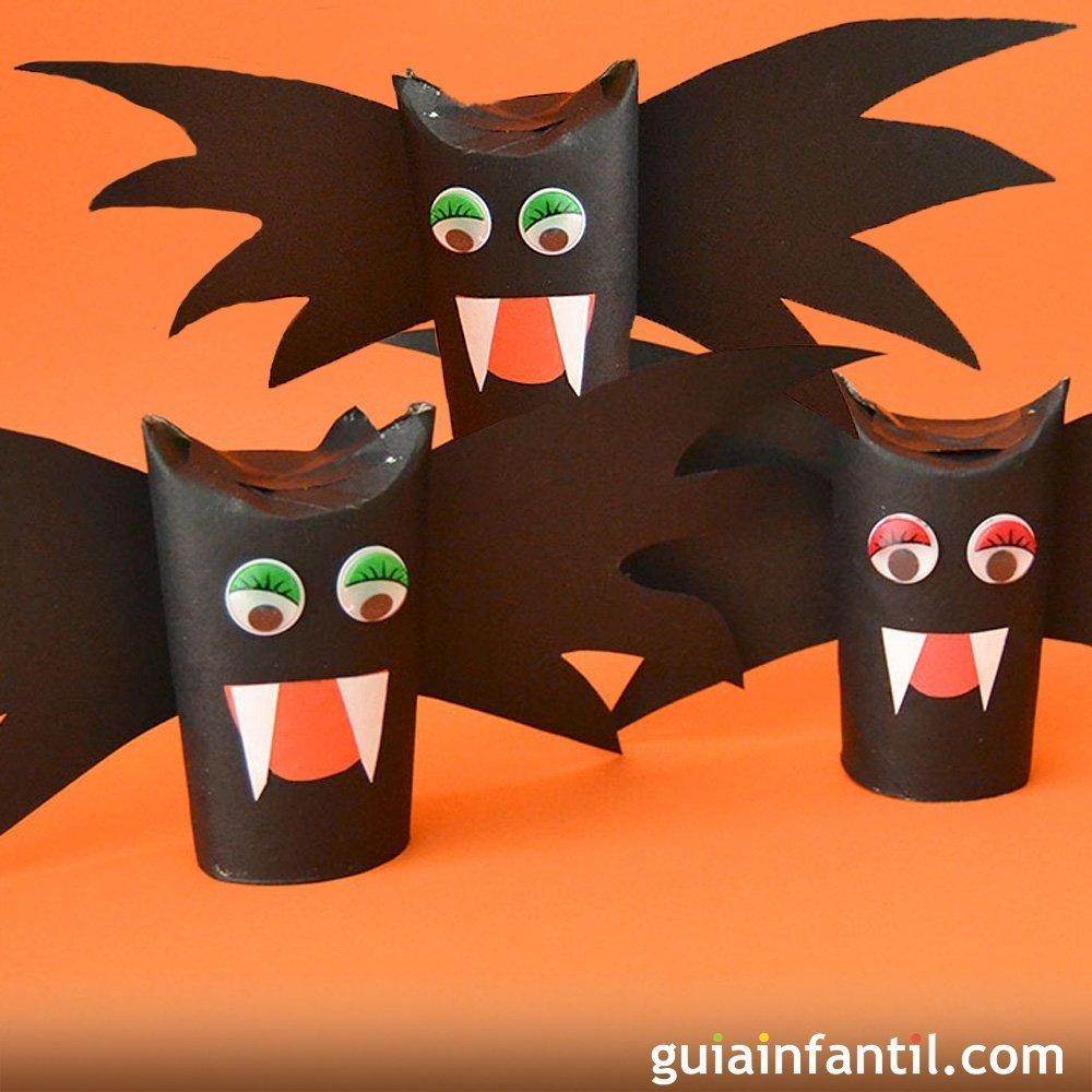 Vampiros cartulinos manualidad de halloween para ni os - Manualidades halloween faciles para ninos ...