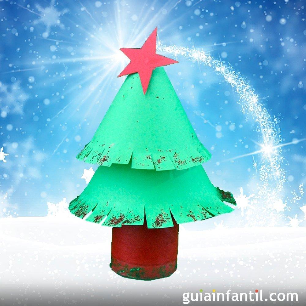 Rbol de navidad manualidad con material reciclado - Como hacer cosas para navidad ...