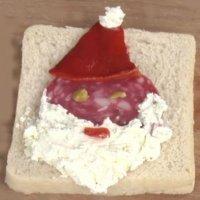 Papá Noel. Canapé de Navidad para los niños