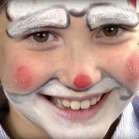 Maquillaje de Navidad para niños. Papá Noel