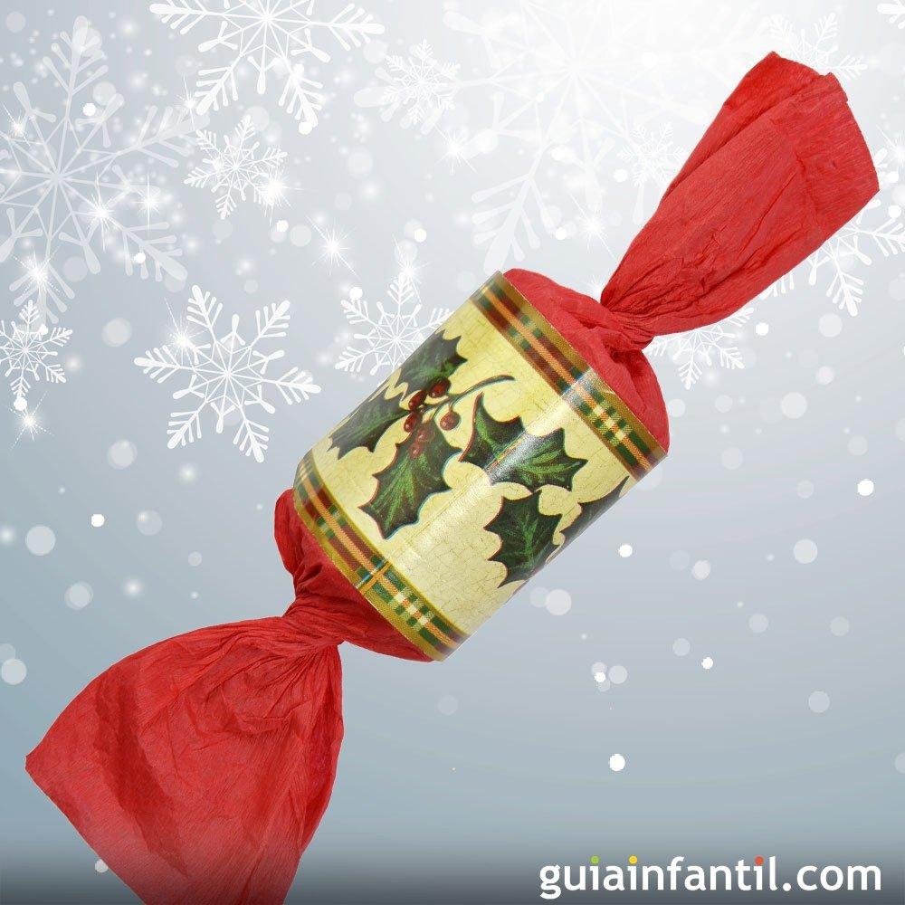 Envoltorio con forma de caramelo manualidad de navidad - Caramelos de navidad ...