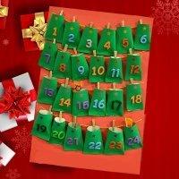 Calendario de adviento para niños con rollos de papel higiénico
