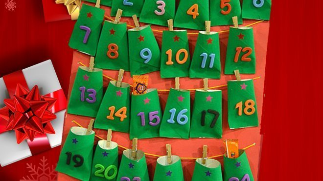 Calendario de adviento para ni os con rollos de papel for Calendario adviento ninos