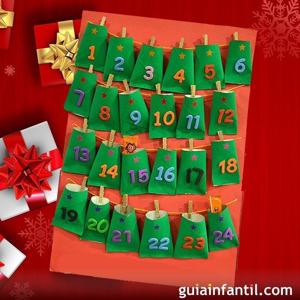 Calendario En Guiainfantil Com ~ Manualidades De Navidad Para  Ninos De Tres Años