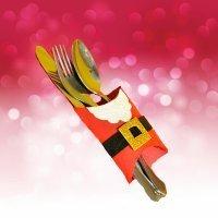 Porta cubiertos de Papá Noel. Manualidades para Navidad