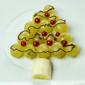 Árbol de Navidad con uvas