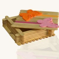 Cómo hacer una caja de madera con palos de helado