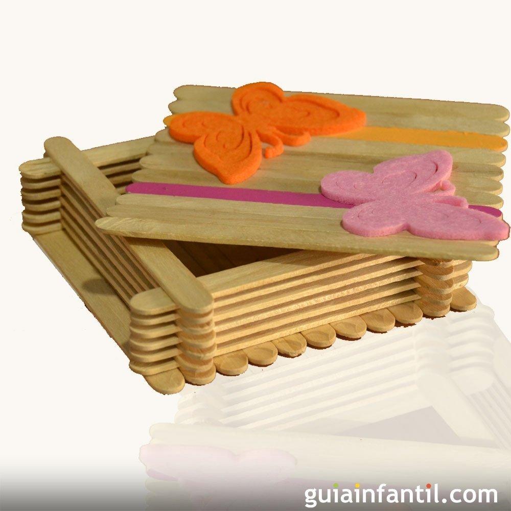 C mo hacer una caja de madera con palos de helado - Hacer caja de madera ...