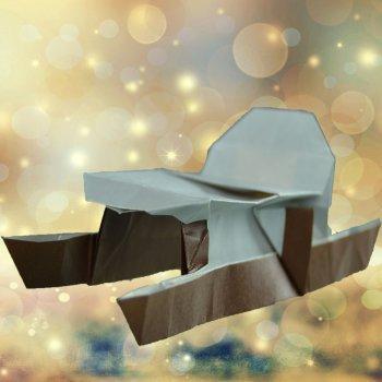 Trineo de Papá Noel de papiroflexia