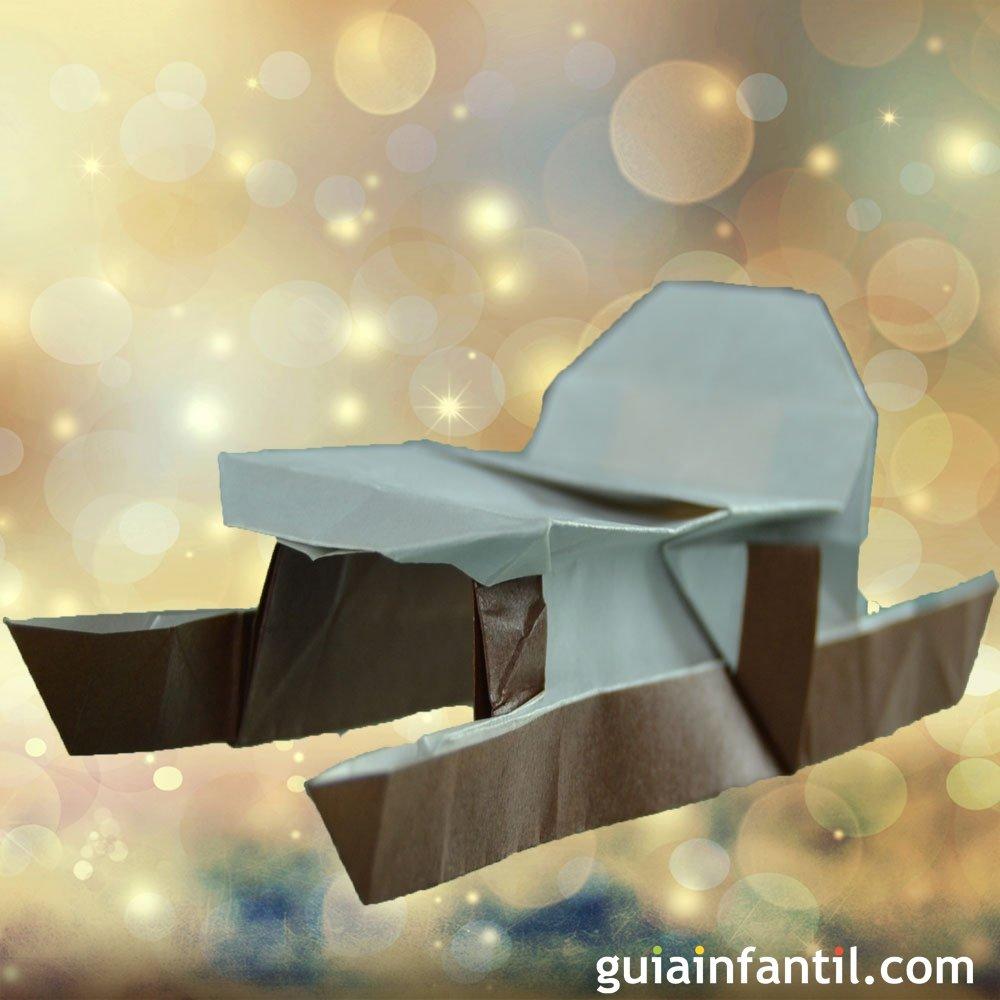 C mo hacer un trineo de pap noel de origami for Hacer papa noel grande