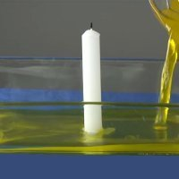Experimentos para niños. Cómo hacer subir el agua con una vela