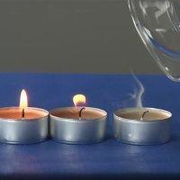 Cómo apagar una vela sin soplar y a distancia. Ciencia para niños