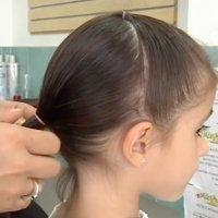 Peinados para niña, dos medias coletas